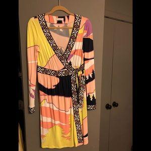 Vintage Emilio Pucci Wrap Dress - Size 12